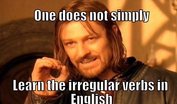 Onregelmatige werkwoorden Engels